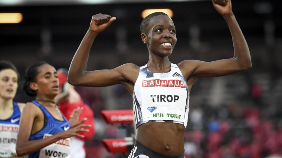 Die 25-Jährige nahm für Kenia an den Olympischen Spielen in Tokio teil, wo sie im August Vierte über 5000 Meter wurde.