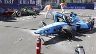 Schwerer Unfall in Formel E
