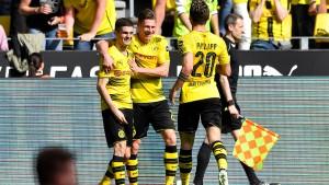 Der BVB schießt sich in Derby-Stimmung
