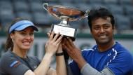 Gutes Team: Martina Hingis (l.) und Leander Paes