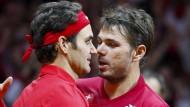 Schweiz gewinnen das Doppel