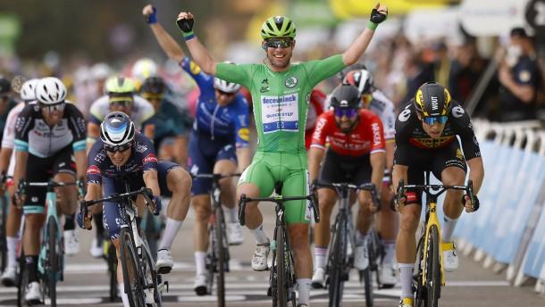 Mark Cavendish im Windschatten von Eddy Merckx