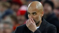 Pep Guardiola und Manchester City erlebten ein Debakel in Liverpool.