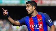 Nicht nur Luis Suarez war beim FC Barcelona schlecht auf den Schiedsrichter zu sprechen.