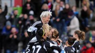 Endlich wieder obenauf: Der FFC Frankfurt erreicht das Pokal-Halbfinale