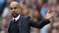 Das kann sich sehen lassen: Pep Guardiola gewann mit Manchester City bisher alle Spiele in der Premier League.