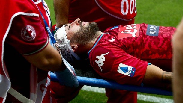 Kopfverletzung überschattet Spiel in Serie A