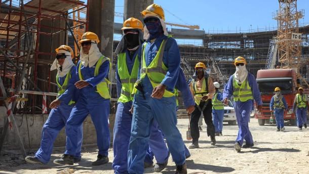 Zehn von 1 4 millionen fremdarbeiter in qatar im november vergangenen