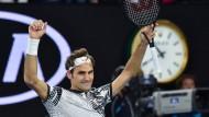 Die Zeit ist doch noch nicht abgelaufen: Roger Federer erreicht das Finale der Australian Open
