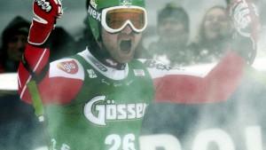 Klaus Kröll gewinnt mit gebrochener Hand