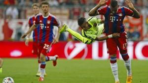 Die Bayern scheiden ehrenhaft aus