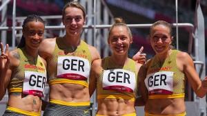 Deutsche Staffelfrauen auf Medaillenkurs