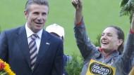 Sergej Bubka (links, neben Jelena Isinbajewa) wehrt sich gegen Verdächtigungen.
