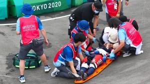 Schwere Stürze überschatten BMX-Rennen