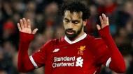 Mohamed Salah traf gegen seine alten Kollegen aus Rom und wollte nicht so recht jubeln.