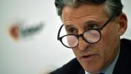 """""""Wir werden hart bleiben"""": IAAF-Präsident Sebastian Coe."""