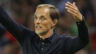 Korrekturbedarf an der Seitenlinie: PSG-Trainer Thomas Tuchel.