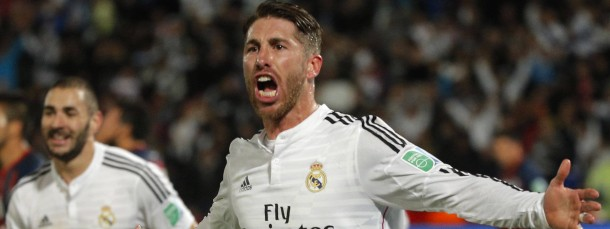 Jubelschrei: Sergio Ramos nach seinem Kopfball zum 1:0.