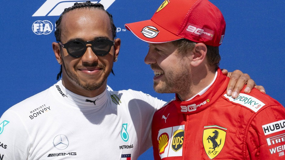 Bald geht es wieder los: Lewis Hamilton (links) und Sebastian Vettel.