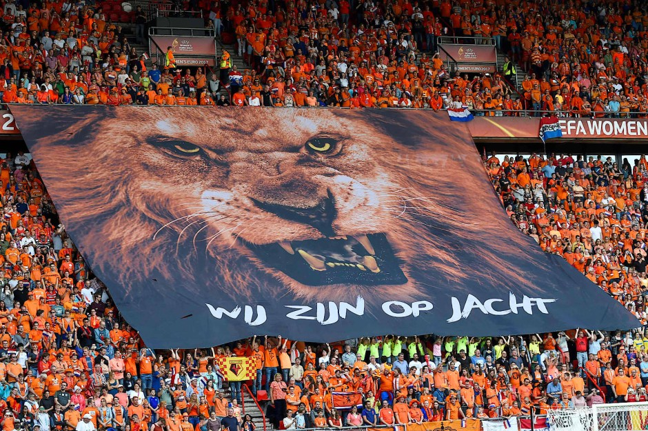 Die Niederländerinnen setzten auf tierische Unterstützung.