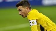 Nicht nur Dortmunds Kapitän Marco Reus ist der Frust ins Gesicht geschrieben.