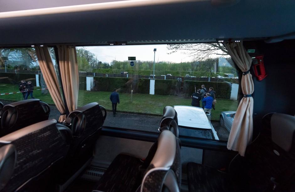 Das ist der Blickwinkel der Mannschaft aus dem Bus.
