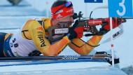 Zielsicher in Pokljuka: Philipp Nawrath landet auf Platz vier.