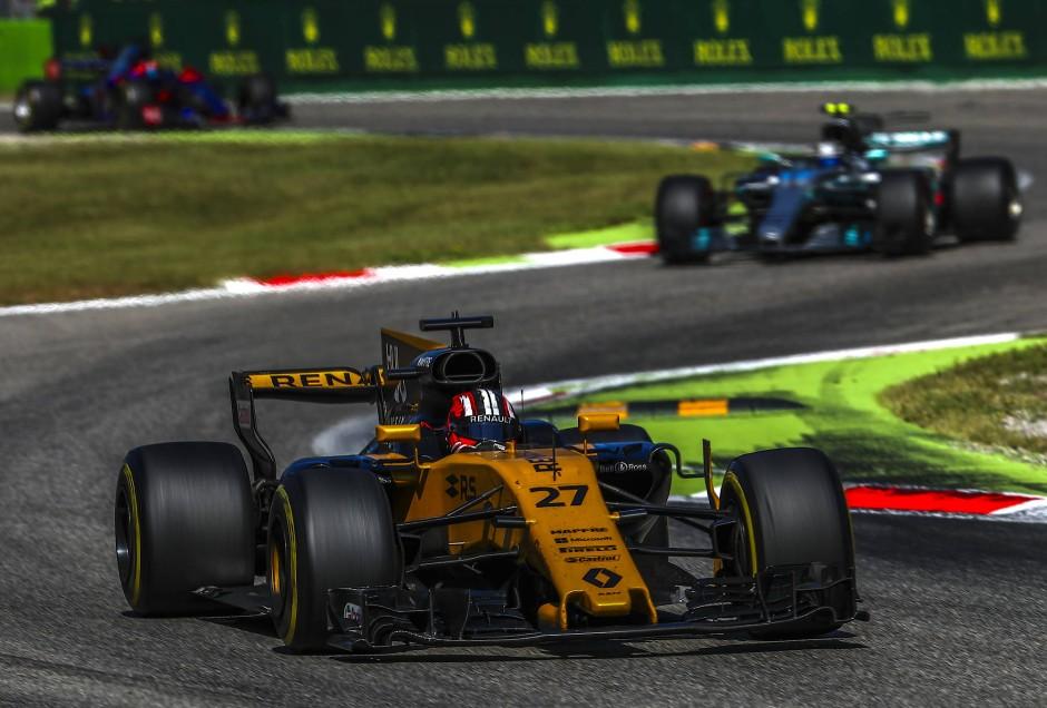 Nur selten vorneweg: Hülkenberg in seinem Renault
