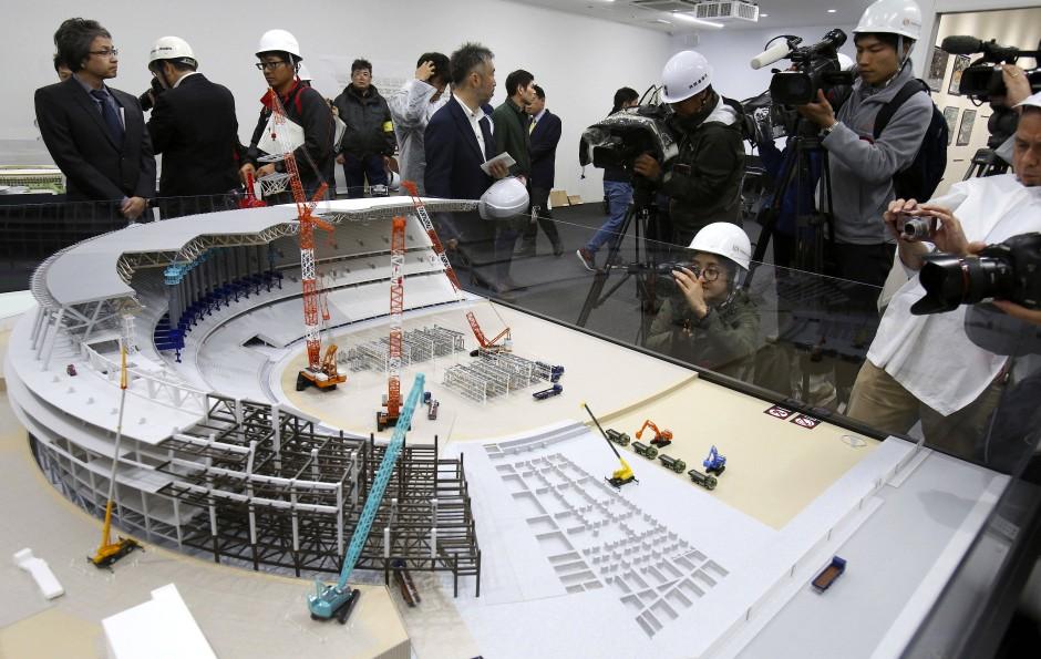 So soll das Olympiastadion für die Sommerspiele in Tokio 2020 aussehen.