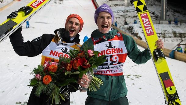 Doppelsieg für deutsche Skispringer