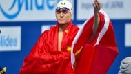 Gut verhüllt: Chinas größter Schwimm-Star Sun Yang