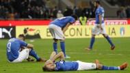 Geschlagen und gefallen: Italien darf nicht zur WM 2018.