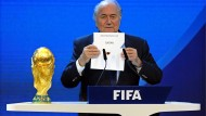 Blatters Verkündung: Am 2. Dezember 2010 bekam Qatar den Zuschlag für die WM 2022