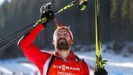 Gruß gen Himmel: Michael Rösch widmete seinen sechsten Platz dem verstorbenen Klaus Siebert