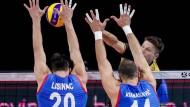Kein Durchkommen gegen den serbischen Block: Ruben Schott bleibt hängen