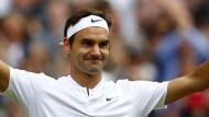 Roger Federer will auch am Sonntag nach dem Finale jubeln.
