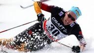 Mit letzter Kraft: Tim Tscharnke gewinnt den Massenstart bei der Tour de Ski