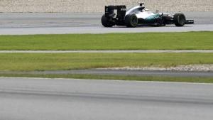 Erst misslingt Rosberg der Start, dann streikt die Stoppuhr
