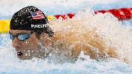 Phelps geht baden