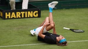 Schreck für Zverev bei Turnier in Halle
