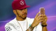 Immer ein bisschen extravagant: Lewis Hamilton.