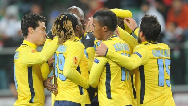 Lazio und Lyon weiter