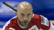 Am Dienstag in Bestform: Skip Alexander Baumann