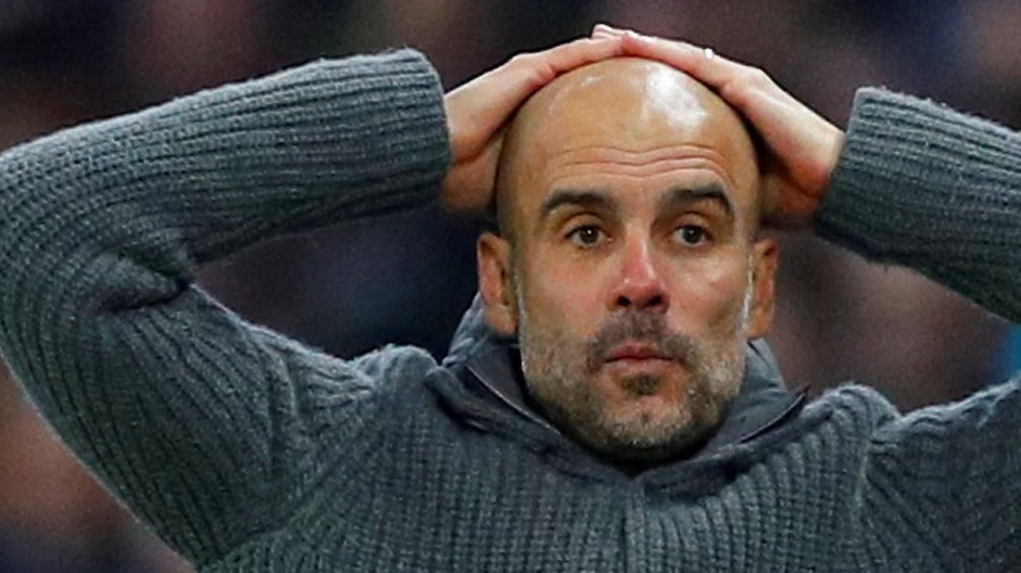 Champions League ohne Manchester City? Trainer Pep Guardiola kann es kaum fassen.