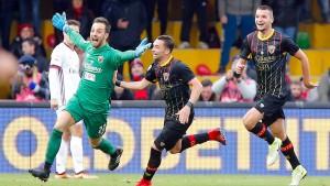 Ein Torwart-Tor beendet Beneventos Durststrecke
