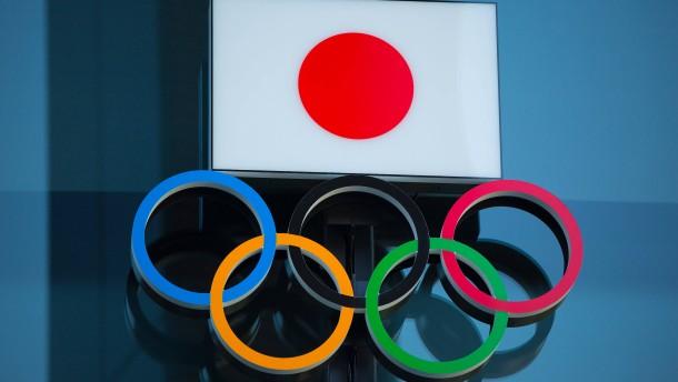 Sportler im olympischen Warteraum