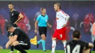 Richtig zufrieden ist keiner: Frankfurt und Leipzig trennen sich unentschieden.