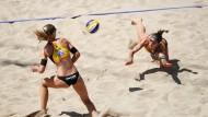 Am Ende vergeblich gestreckt: Chantal Laboureur (r.) und Sandra Ittlinger verpassen die direkte Olympia-Qualifikation