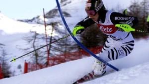 Martina Ertl probt am Arlberg