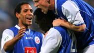 Rostock deklassiert Offenbach - Hertha blamiert sich in Wuppertal